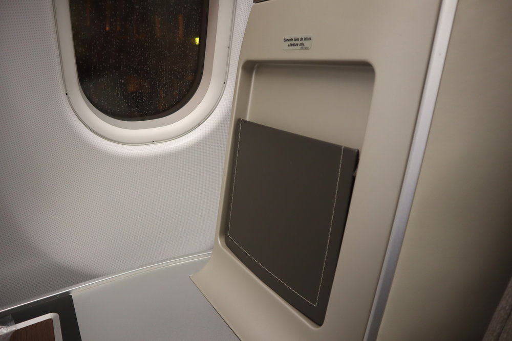 TAP Air Portugal business class – Storage pouch