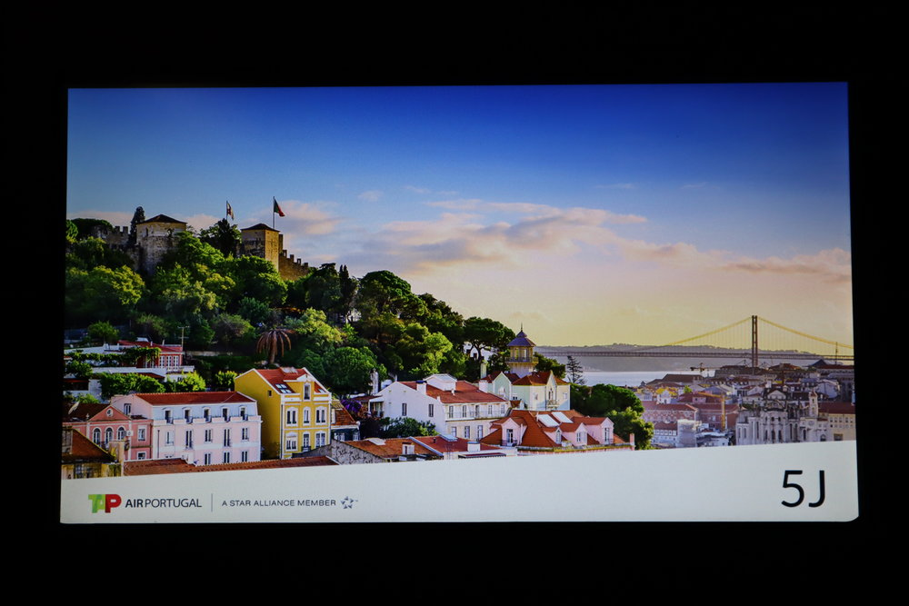 TAP Air Portugal business class – Entertainment system