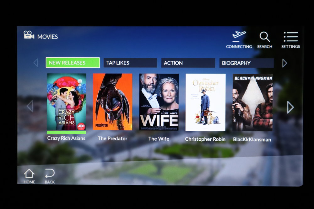 TAP Air Portugal business class – Movie selection