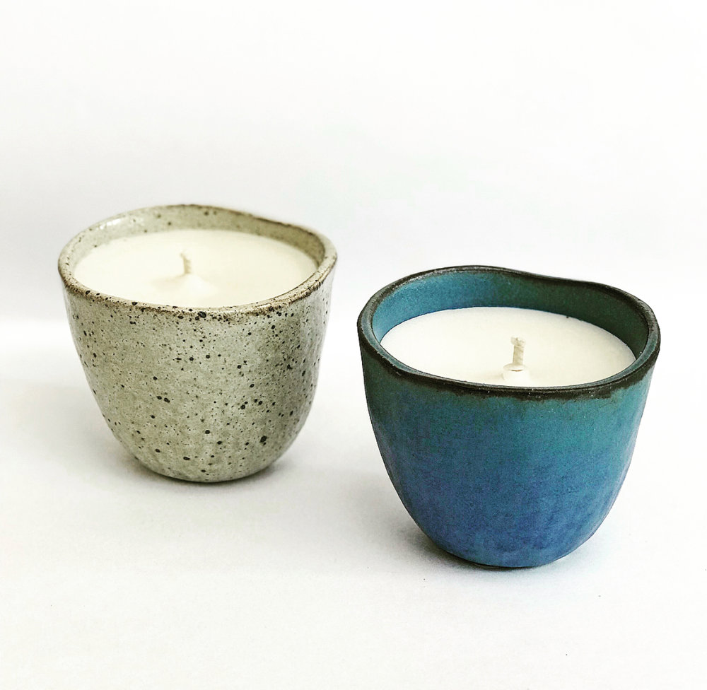 Japanese Ceramic Candles - Our new lifestyle range consists of this medium sized candle using stoneware made from Japan, it is perfect for all homes and minimalist lovers.  Practical candles that contribute to a life well lived.