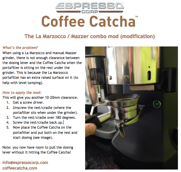 Coffee Catcha with La Marzocco & Mazzer