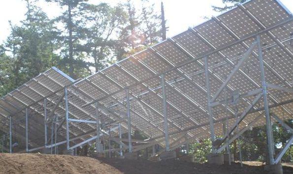 17 kW PV system powering a telecom site on a remote island in Washington State's San JUan archipelago.