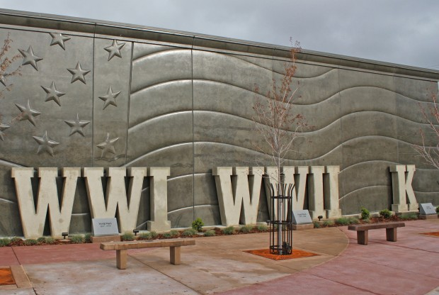 Veterans Memorial in Anderson CA made entirely of precast concrete.