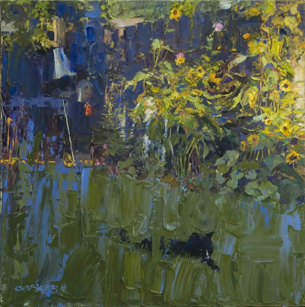 Panther in the Grass  20 x 20