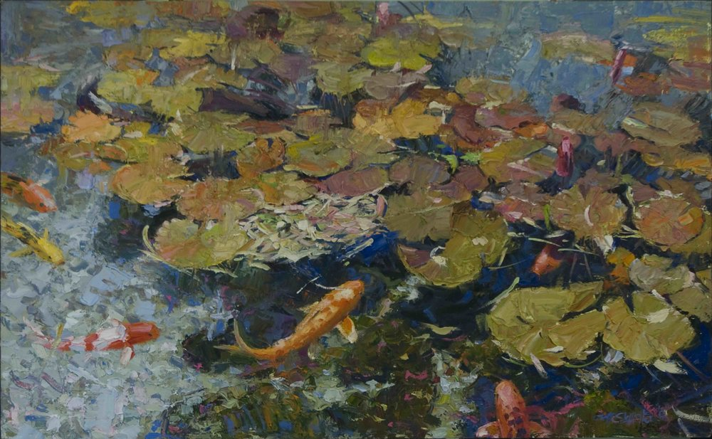 Petals on the Water No.2 26 x 42