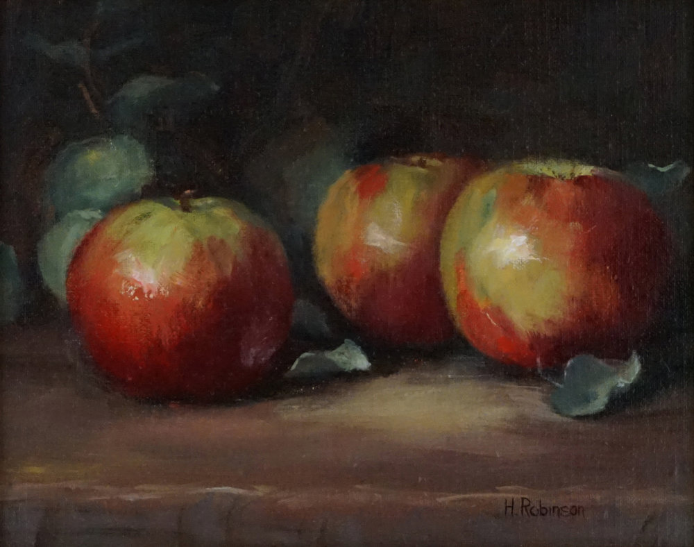 """Apples & Eucalyptus""  8 x 10  oil"