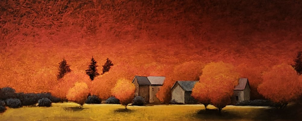 Autumn's Glow   oil  20 x 48
