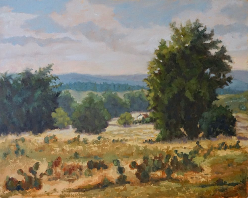 On Comanche Hills Ranch  24 x 30  oil