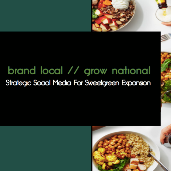 Copy of Strategic Branding: Sweetgreen