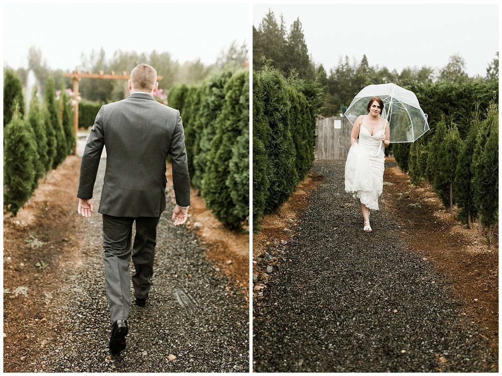 Rustic Chic Wedding | wedding day first look ideas | PNW wedding photographer