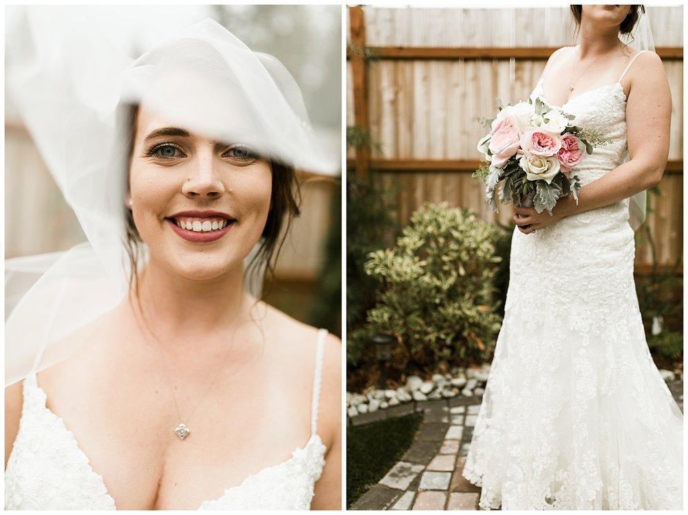 Rustic Chic Wedding | wedding day bridal portraits | PNW wedding photographer