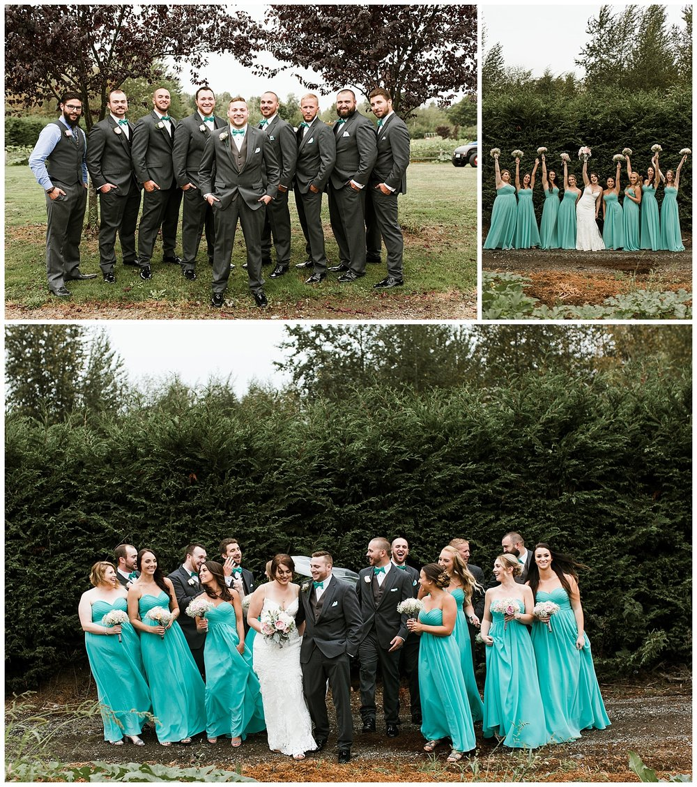 Rustic Chic Wedding |  Bridal Party Photos | PNW wedding photographer