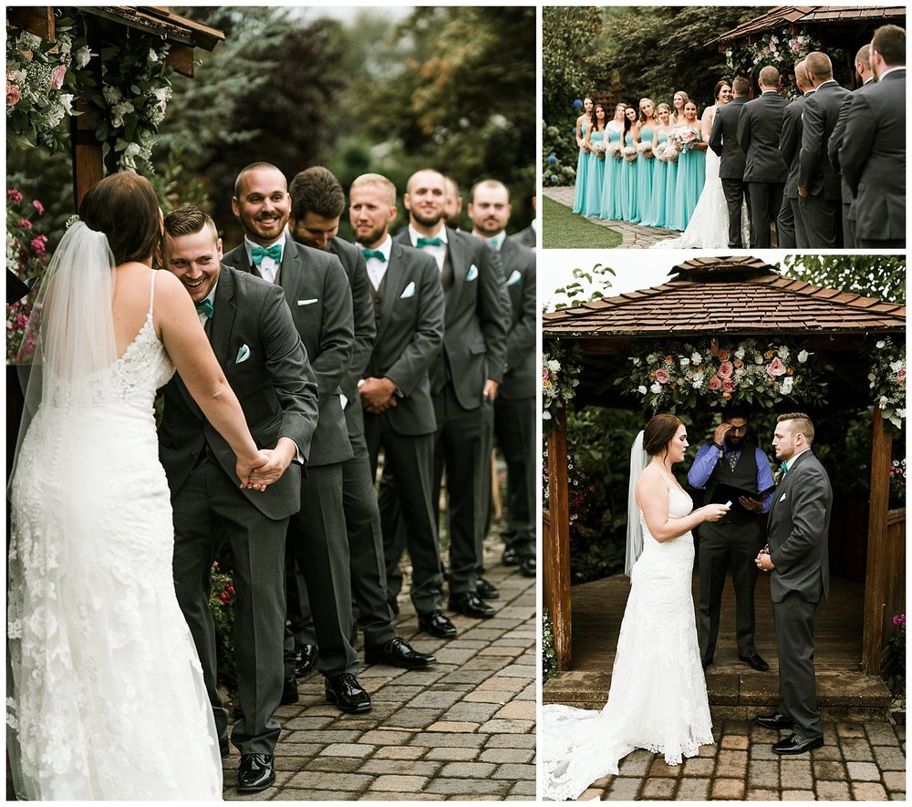 Rustic Chic Wedding | wedding day ceremony details | PNW wedding photographer