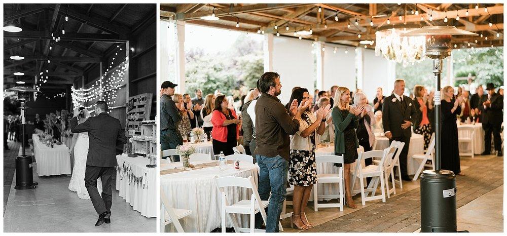 Rustic Chic Wedding | wedding day reception | PNW wedding photographer