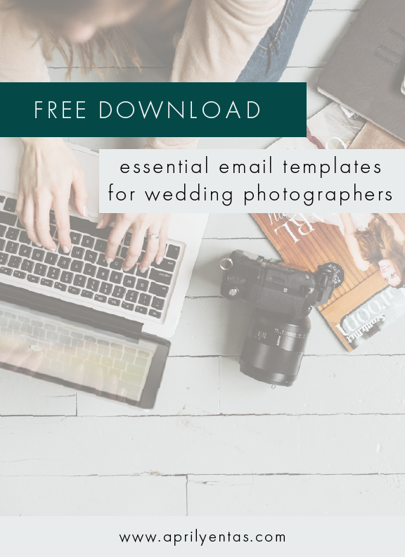 email templates for wedding photographers | free resources for wedding photographers