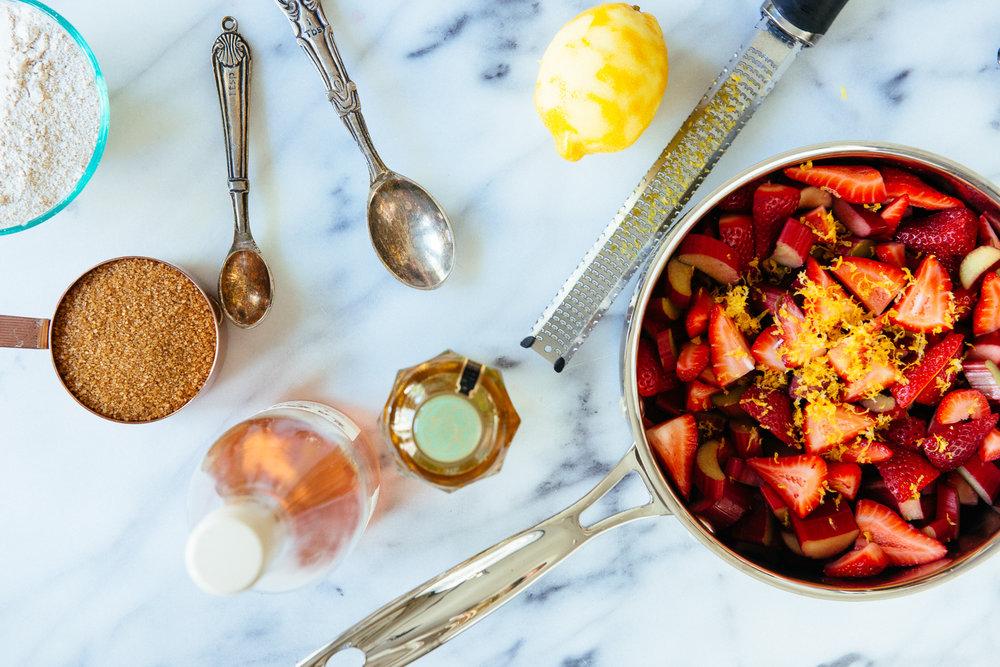 Strawberry Rhurbarb Rosé Hand Pies