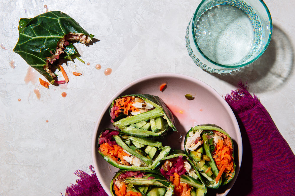 Whole 30 Banh Mi Collard Wraps