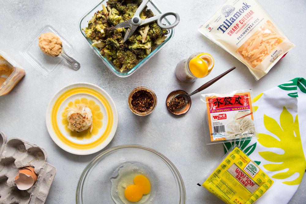 Snow Day Broccoli & Cheddar Dumplings
