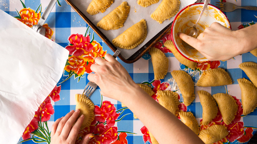 Sweet Potato Empanadas with Pineapple and Coconut
