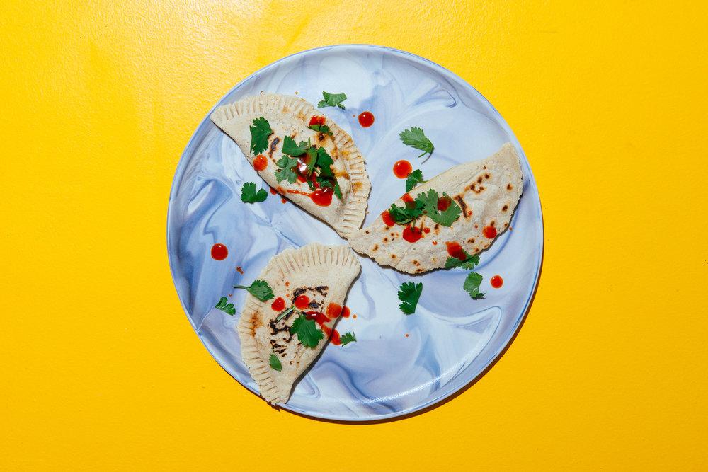 Healthyish turkey taco and black bean empanadas