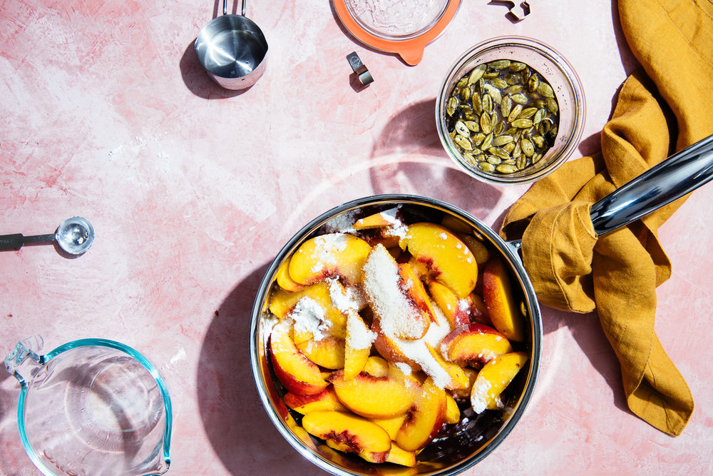 Peach and Cardamom Hand Pie Filling