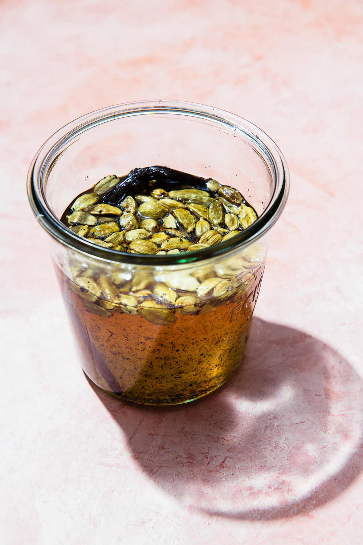 Cardamom and Vanilla simple syrup