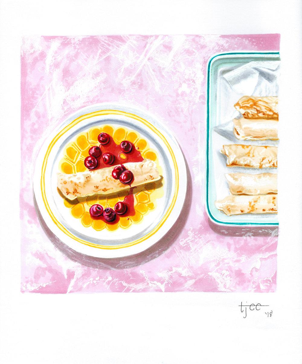 "Mama Min's ""Cheesecake"" Blintzes"