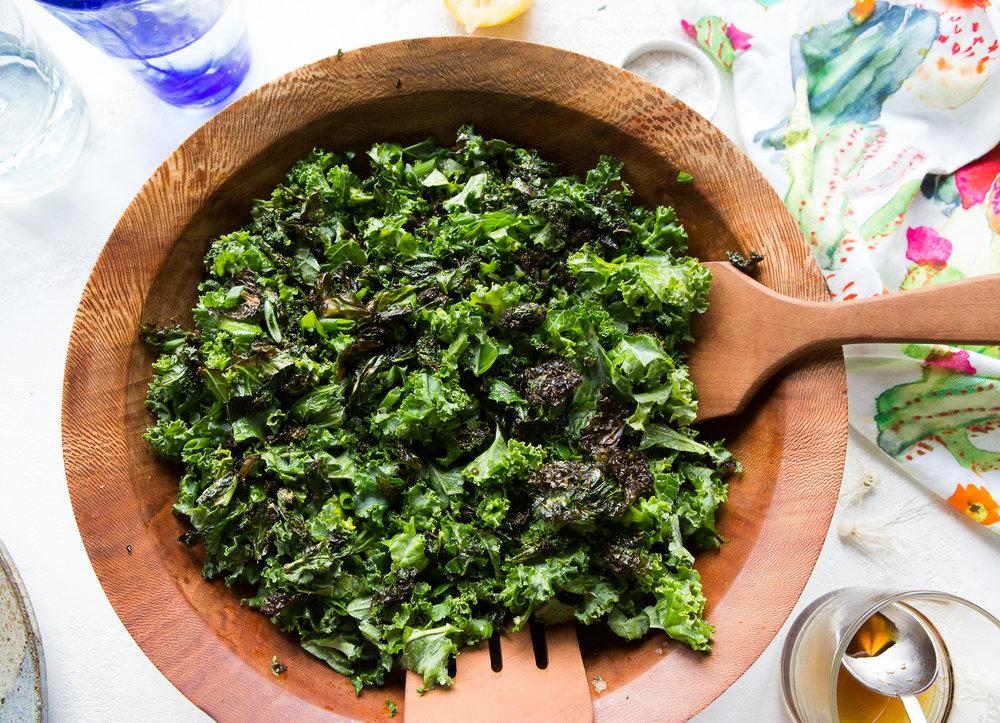 Crispy Charred Kale Salad. Photo by  Mackenzie Smith Kelley