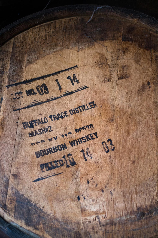 Buffalo Trace barrels aging Damoiseau rhum