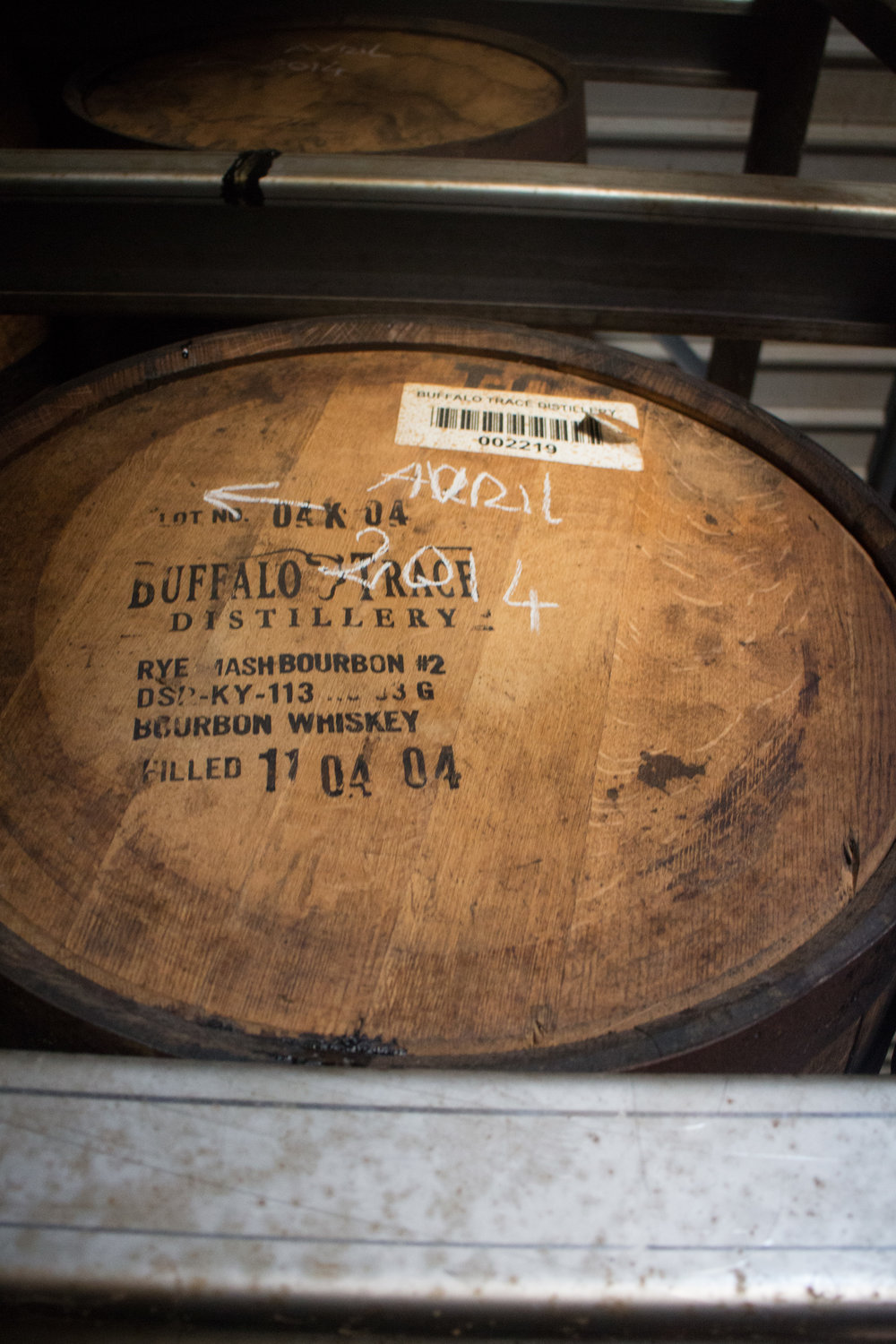 Buffalo Trace Bourbon Barrel in Damoiseau warehouse