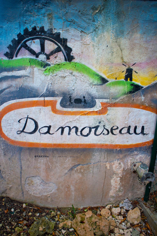 Mural at Rhumerie Damoiseau, La Moule, Grand Terre, Guadeloupe