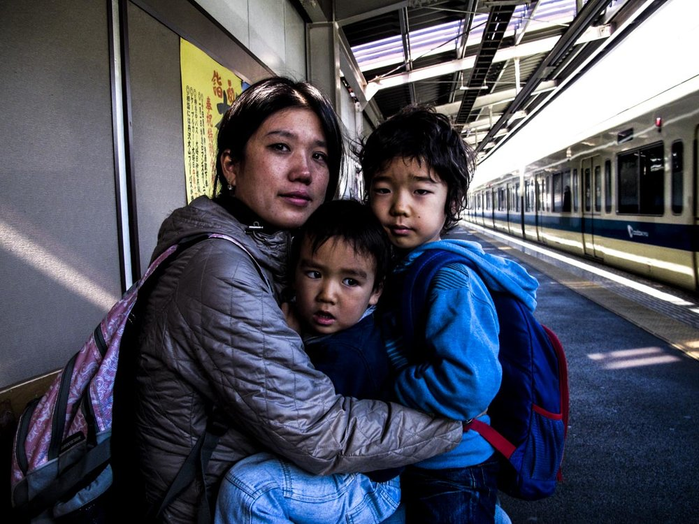 Kai, Jay and Mami, Tamagagakuen Station, 2014