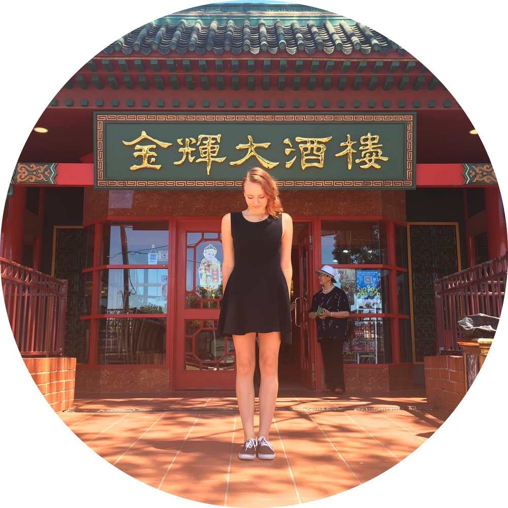 With Finnish girl one at a Chinese restaraunt in Melbourne, Australia