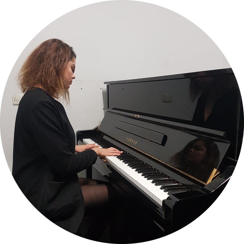 - Agniete, my piano student