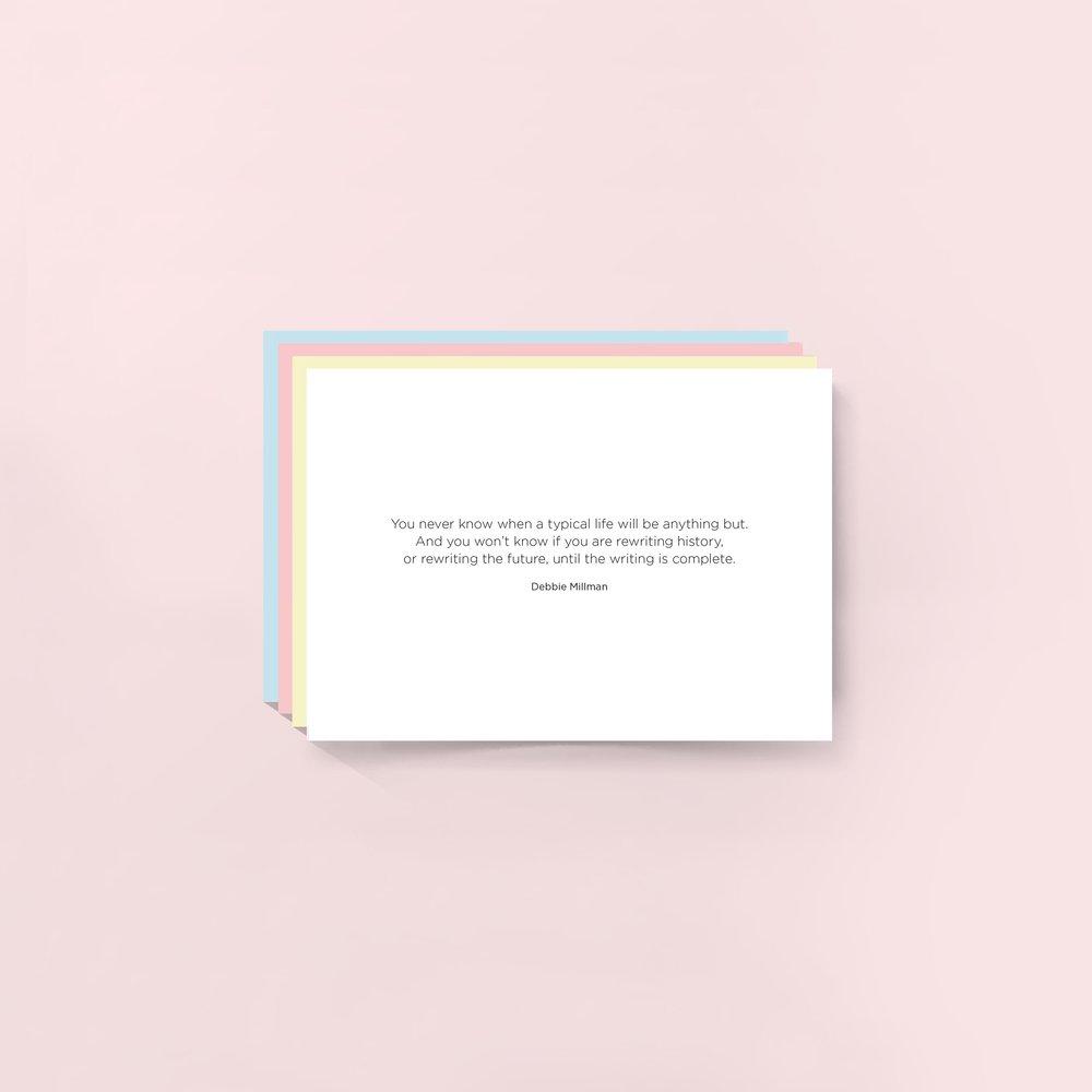 Blank Motivation Quote Greeting Card Debbie Millman