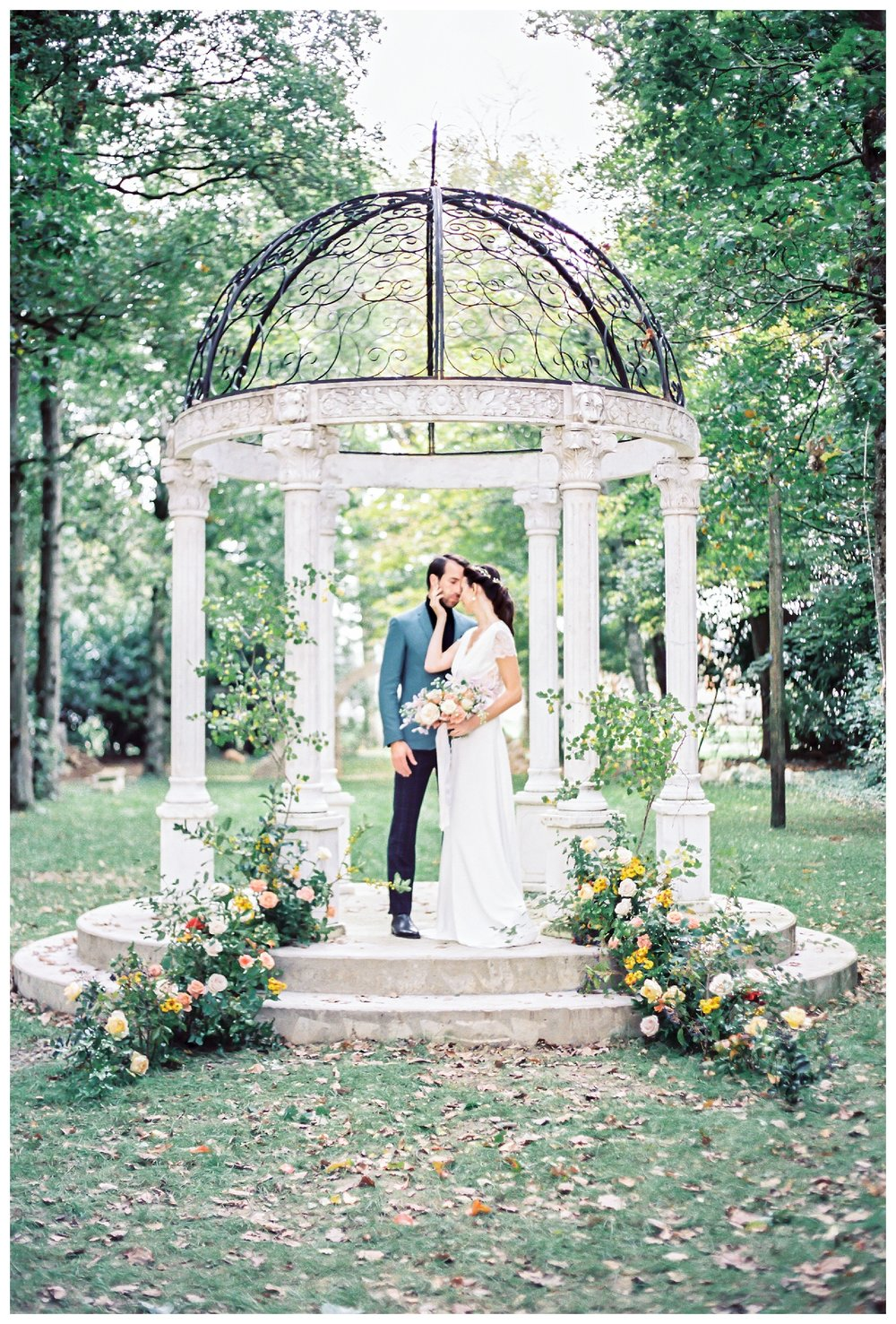 Arbour in Chateau Barthelemy Gardens - Jacqueline Anne Photography - Nova Scotia Wedding Photographer