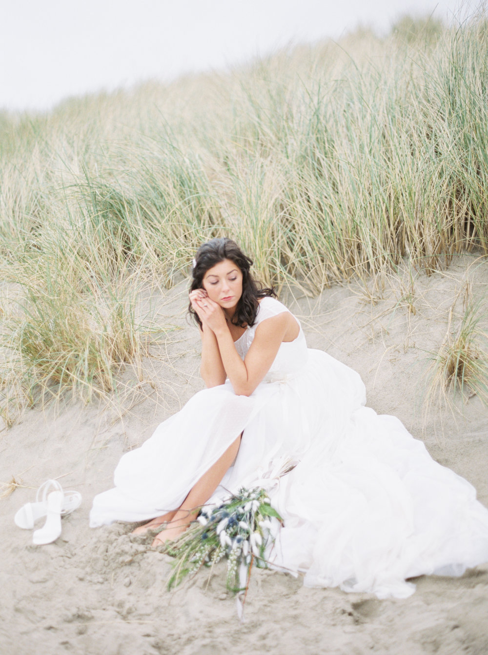 Jacqueline Anne Photography, Beach Wedding Session captured in Portland, Halifax Nova Scotia Wedding Photographer  White Embroidered Wedding Dresses, Kathryn Bass Bridal