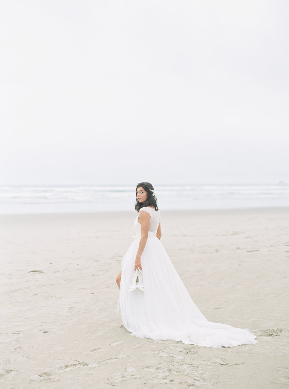 Jacqueline Anne Photography, Beach Wedding Session captured in Portland, Halifax Nova Scotia Wedding Photographer  White Embroidered Wedding Dresses, Kathryn Bass Bridal  Published in Hochzeitsguide