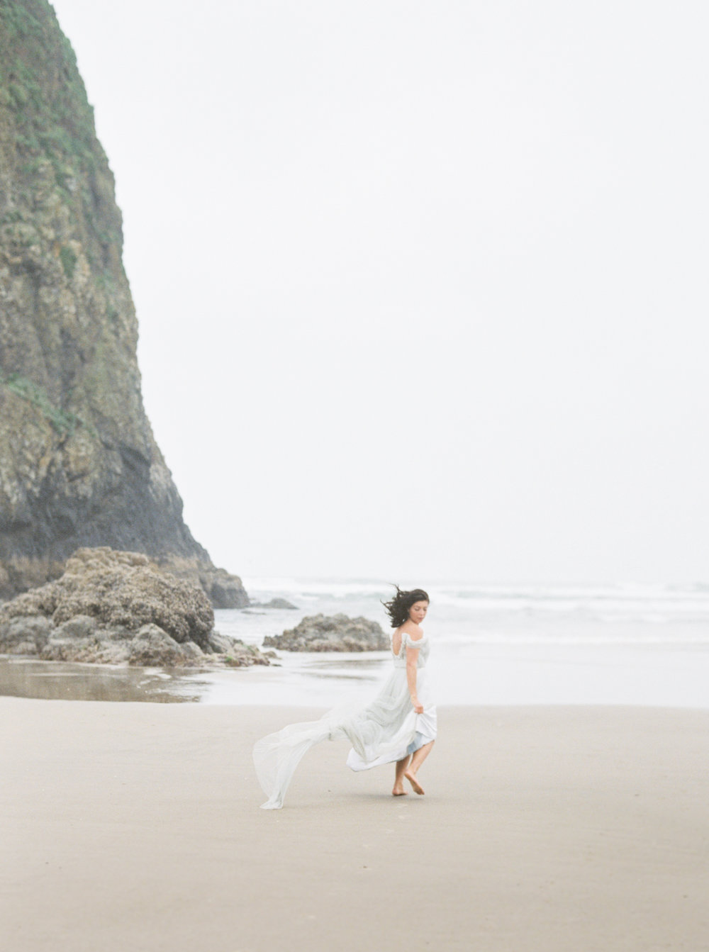 Jacqueline Anne Photography, Beach Wedding Session captured in Portland, Halifax Nova Scotia Wedding Photographer  Coloured Wedding Dresses, Kathryn Bass Bridal