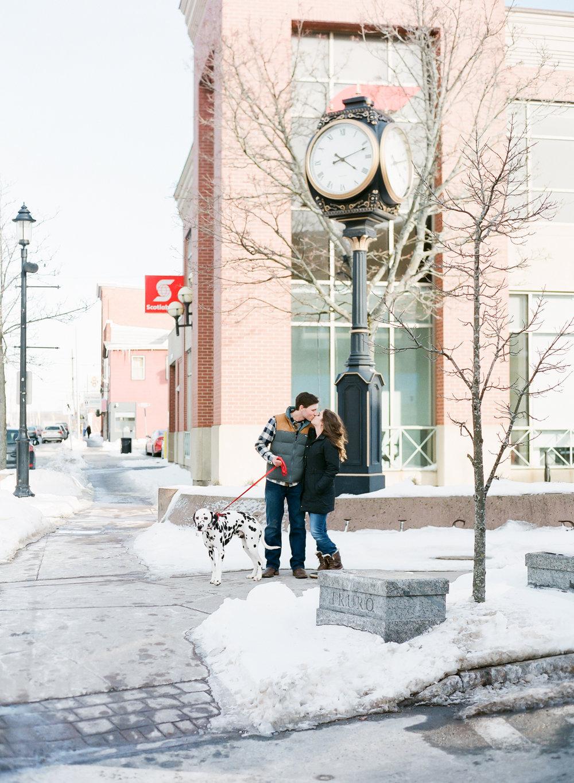 Halifax Wedding Photographer, winter engagement session, Truro Nova Scotia, Canadian Engagement Session, Jacqueline Anne Photography, Film Engagement Session