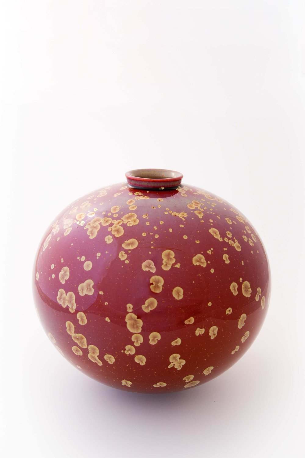 Ted Secombe, Sunset Orb, porcelain, gloss crystal with gold crystal, H28 x W29 cm, 2015.jpg
