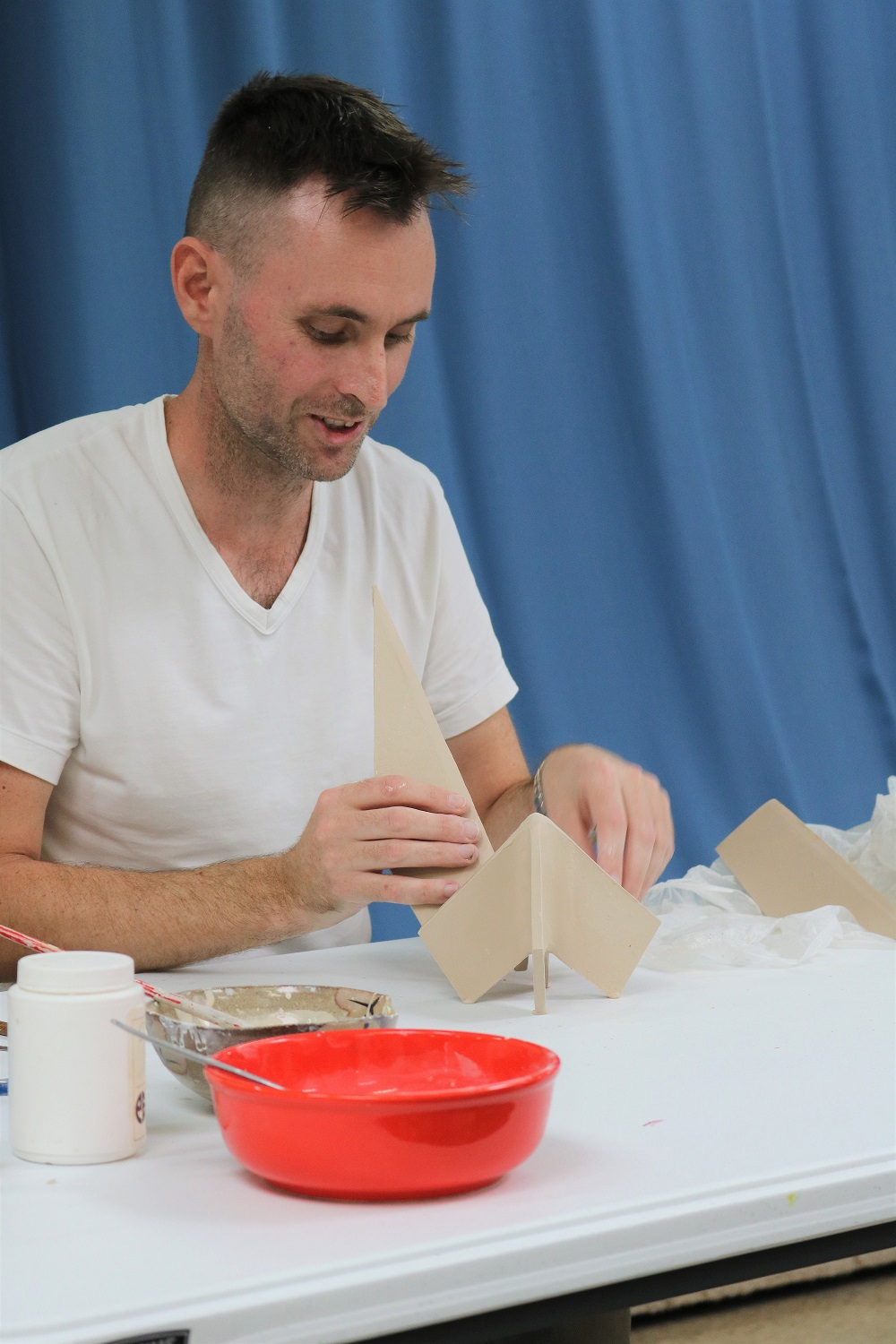 Tim Clarkson Workshop: origami inspired ceramics, Skepsi @ Malvern, November 2017