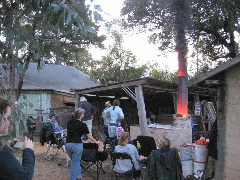 Owen Rye: Wood Fire Kiln Building Workshop, Skepsi @ Montsalvat, September 2013