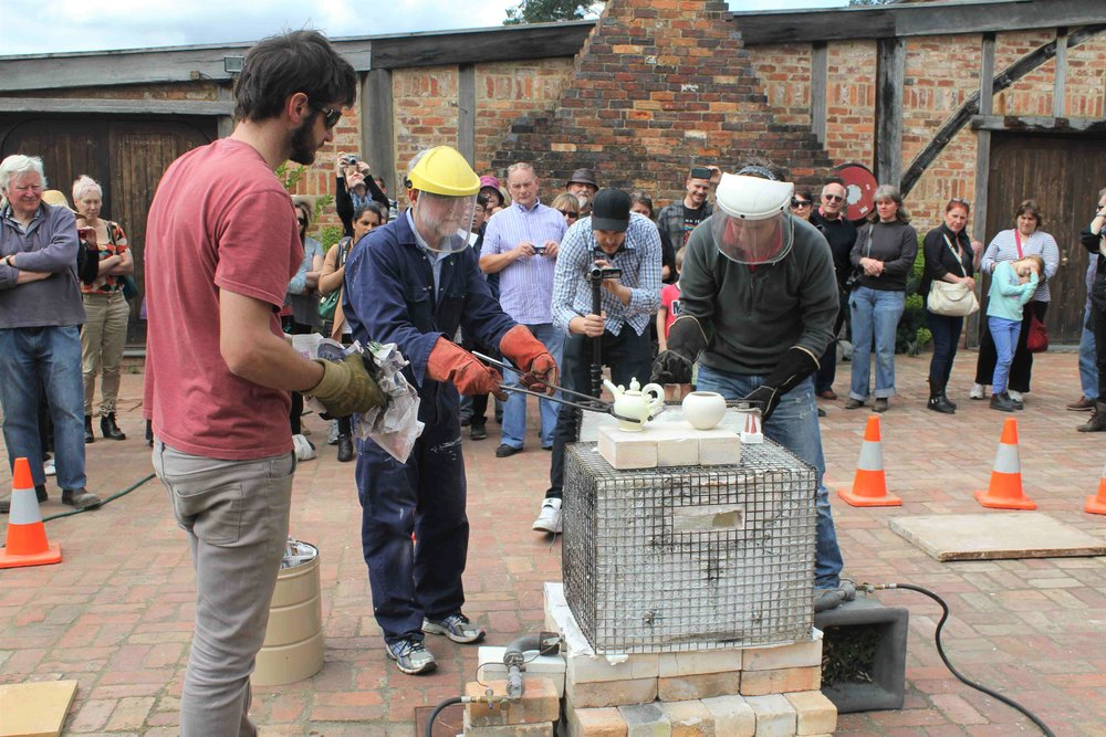 Kevin & Tim Boyd: Raku Firing Demonstration, Skepsi @ Montsalvat, September 2013