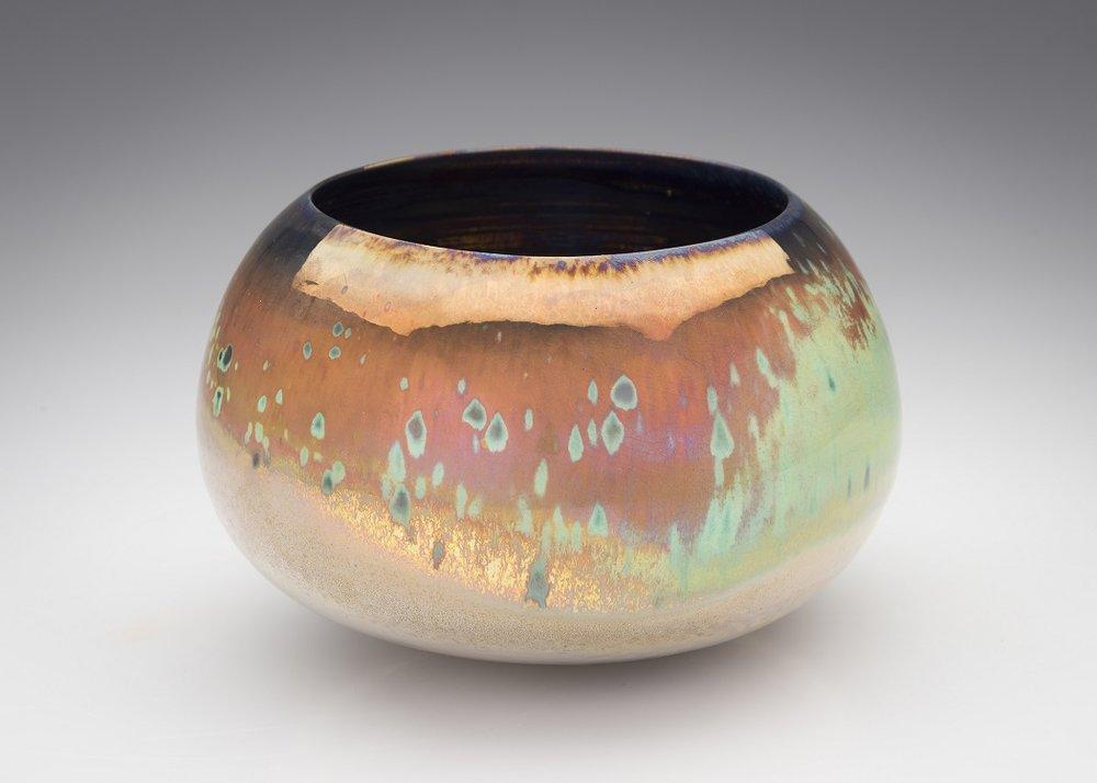 Greg Daly, Bronze Dusk, lustre glazed ceramic bowl,125 mmH x 175 mmD.jpg