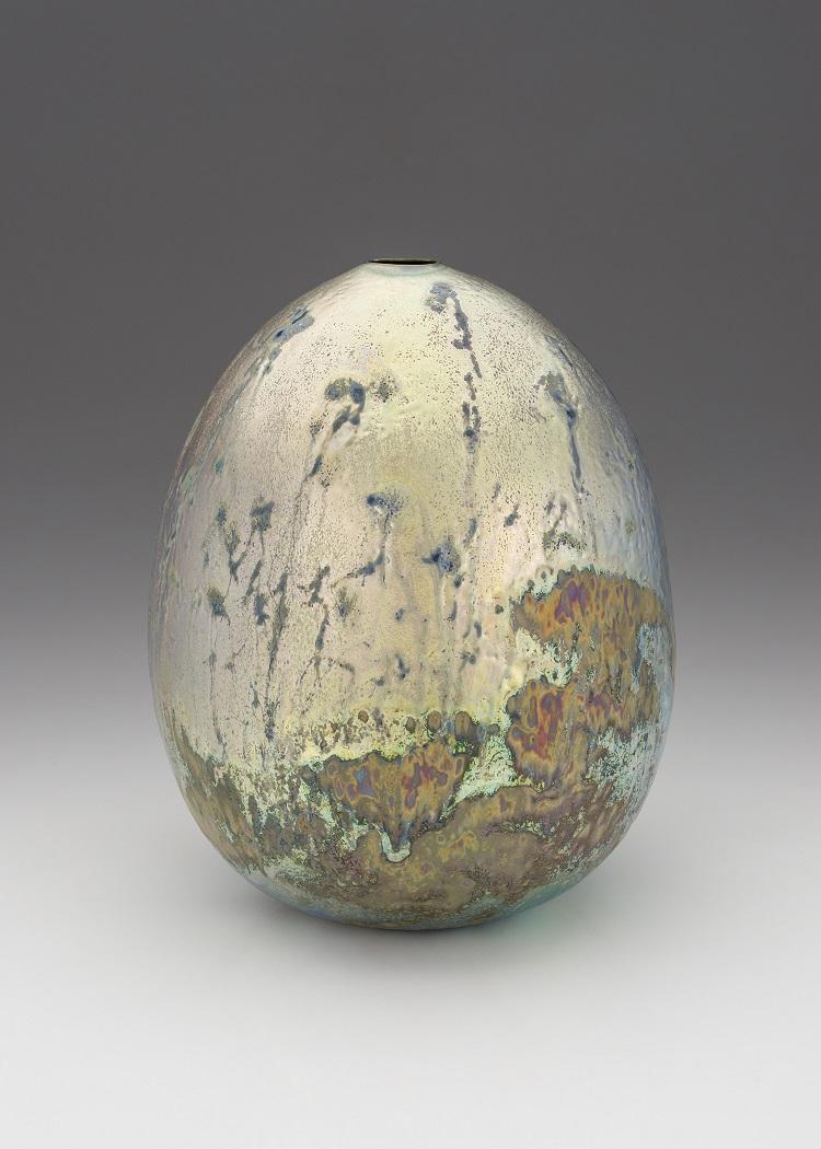 Greg Daly, Full Moon Mist, lustre glazed ceramic vase, H31 x W23cm.jpg