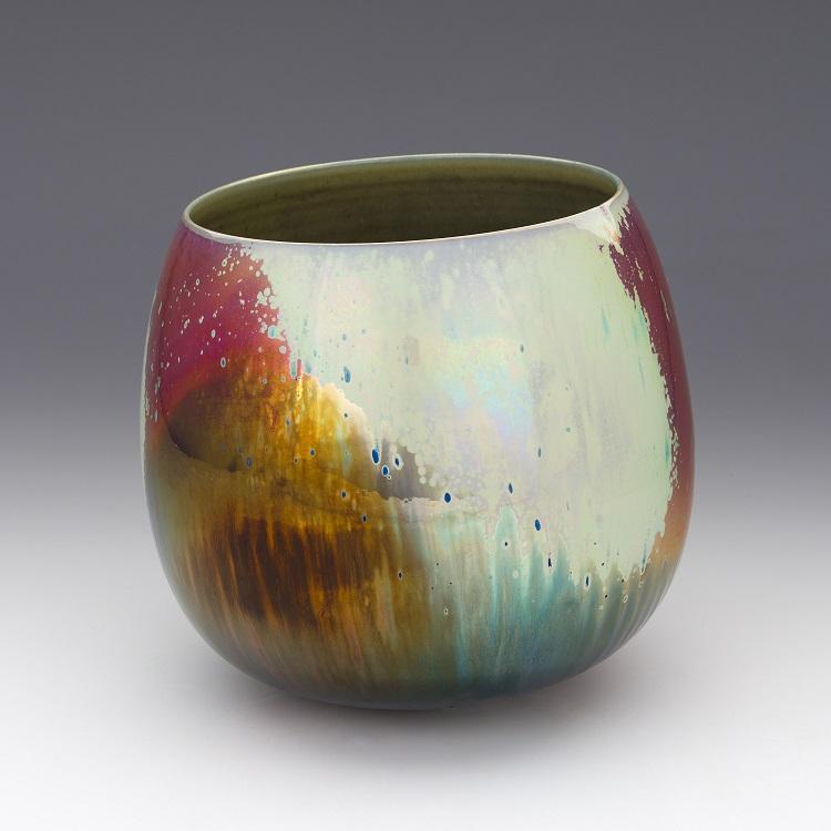 Greg Daly, Sunset Storm, lustre glazed ceramic bowl 220 mmH x 230 mmD.jpg