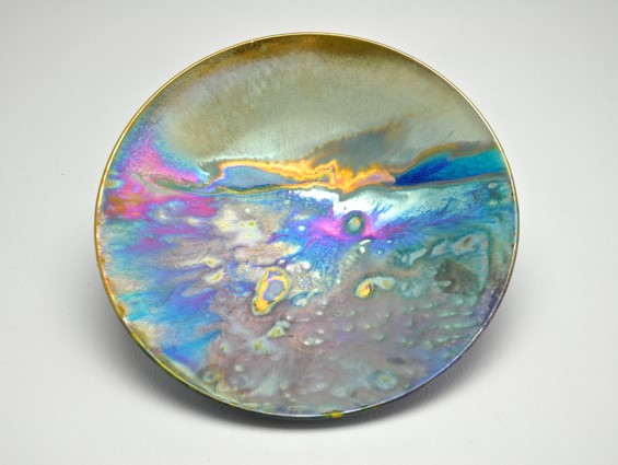 Setting Sun, lustre glazed ceramic work, H6 x W29cm.jpg