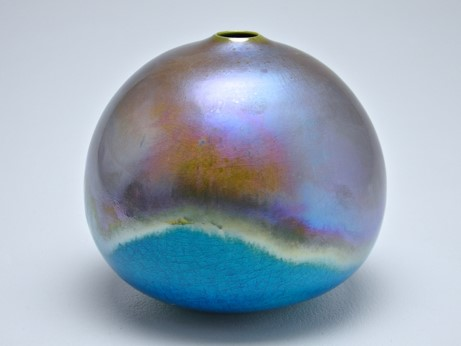 Fading Light, lustre glazed ceramic work,   H17 x W19cm.jpg