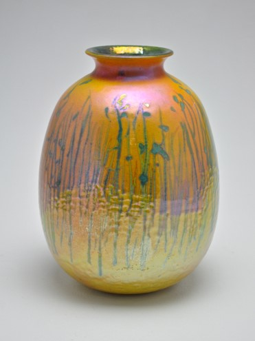 47. Light through Spear Grass, lustre glazed ceramic work,  H29 x W20cm, $1300.jpg